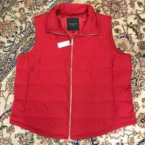 🆕 Talbots    Red Down-Filled Puffer Vest
